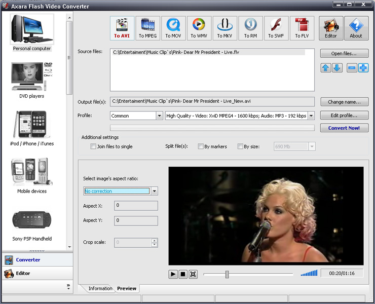 Flash Video Converter Screen shot