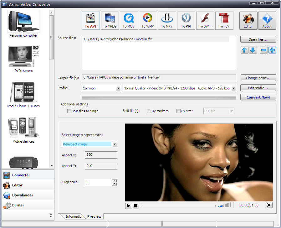 Video Converter Screen shot