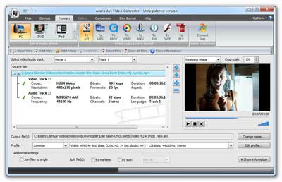Axara AVI Video Converter full screenshot