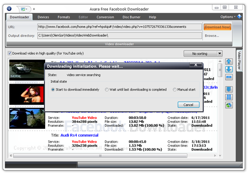 FREE Facebook Downloader 1.7.6 full