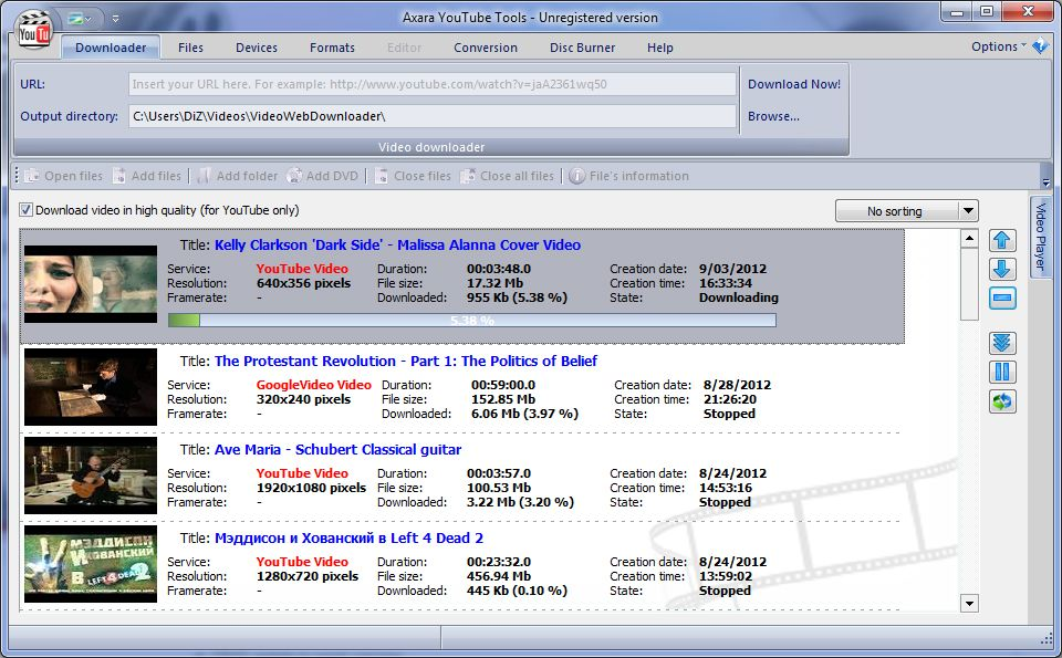 AXARA YOUTUBE TOOLS screenshot